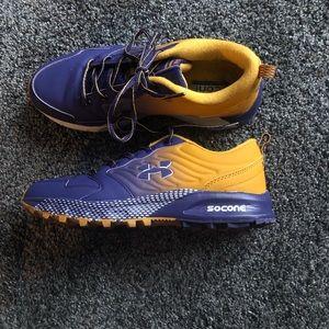 New Balance Socone Purple & Yellow Running Sneaker